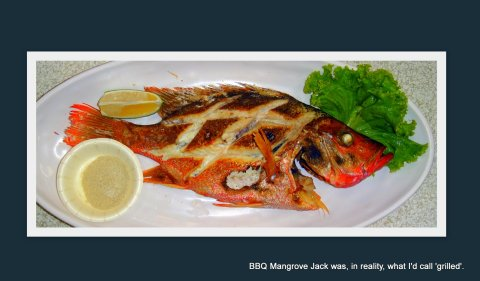 Grilled fish may be called barbecued fish in Taiwan.