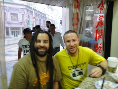 A.K. and Chris Morris  (Roots Covenant) of San Diego, California.  Keelung 21 August 2013