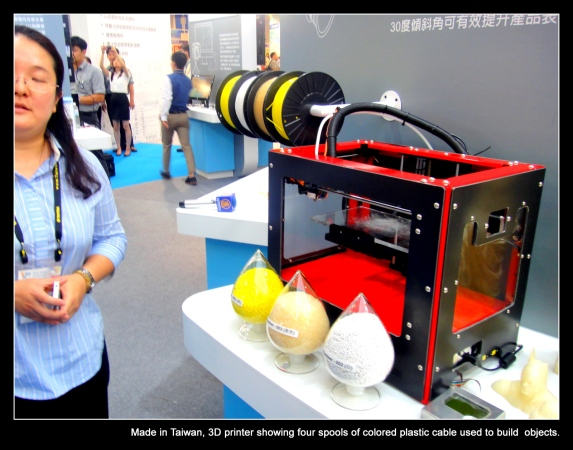 3D printer uses plastic cables to make scanned objects.