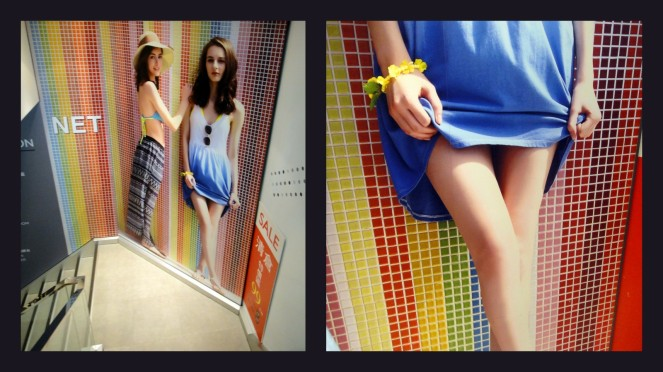 In=store display.  Zhongshan MRT area September 2014 - end of summer sales.